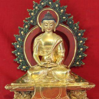 Golden Amitabha Buddha Statue