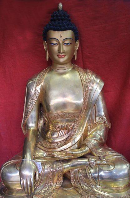 Full gold Shakyamuni Big Buddha Statue Online - 3 feet
