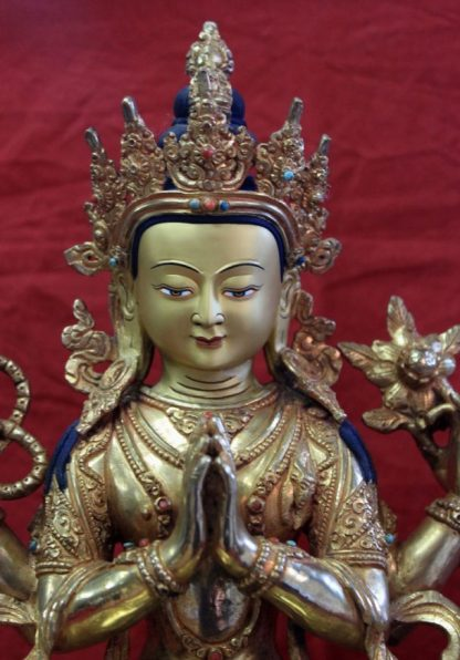 Golden buddha statue for sale-Chenrezig face