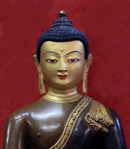 mini zen garden statues-shakyamuni buddha face