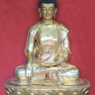 Big Buddha Statue Online - Full Gold Shakyamuni Buddha 3 feet tall