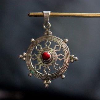dharma wheel pendant