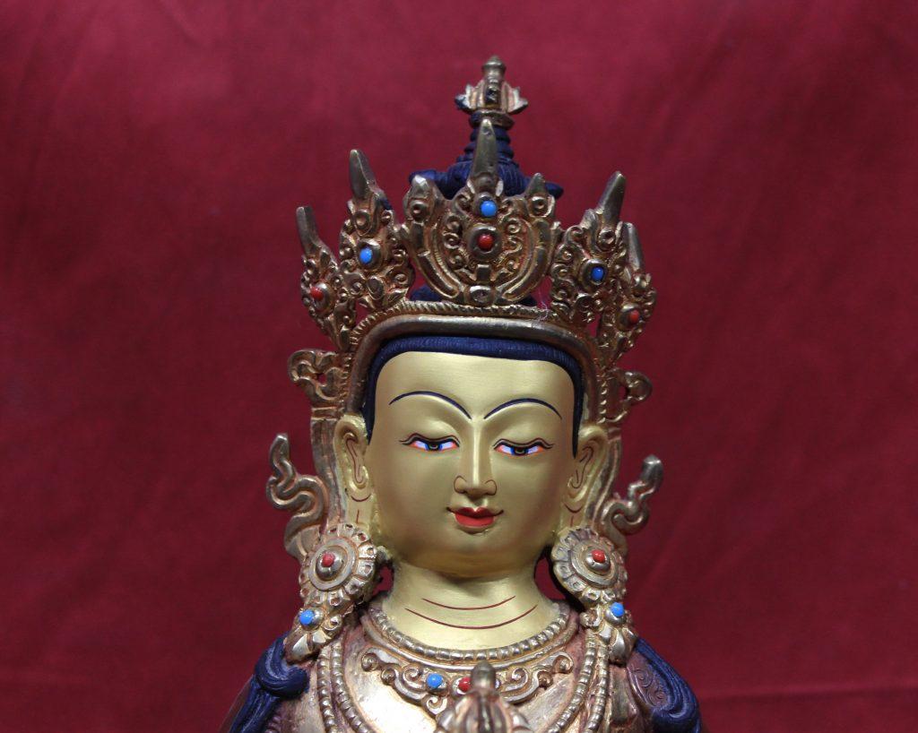 Vajrasattva Statue - ears with ornaments