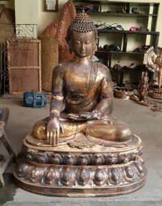 Sculpting Buddha - Semi finished state