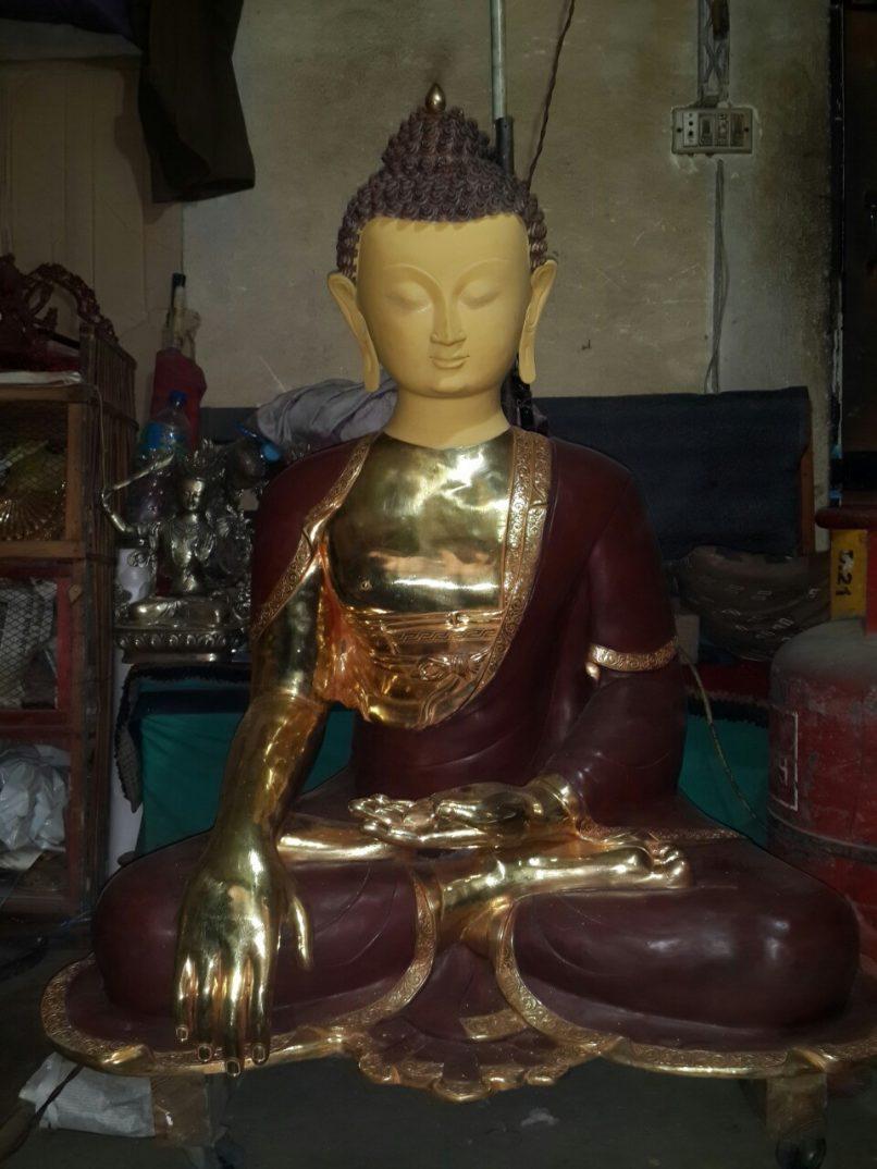 Sculpting Buddha Work in Progress