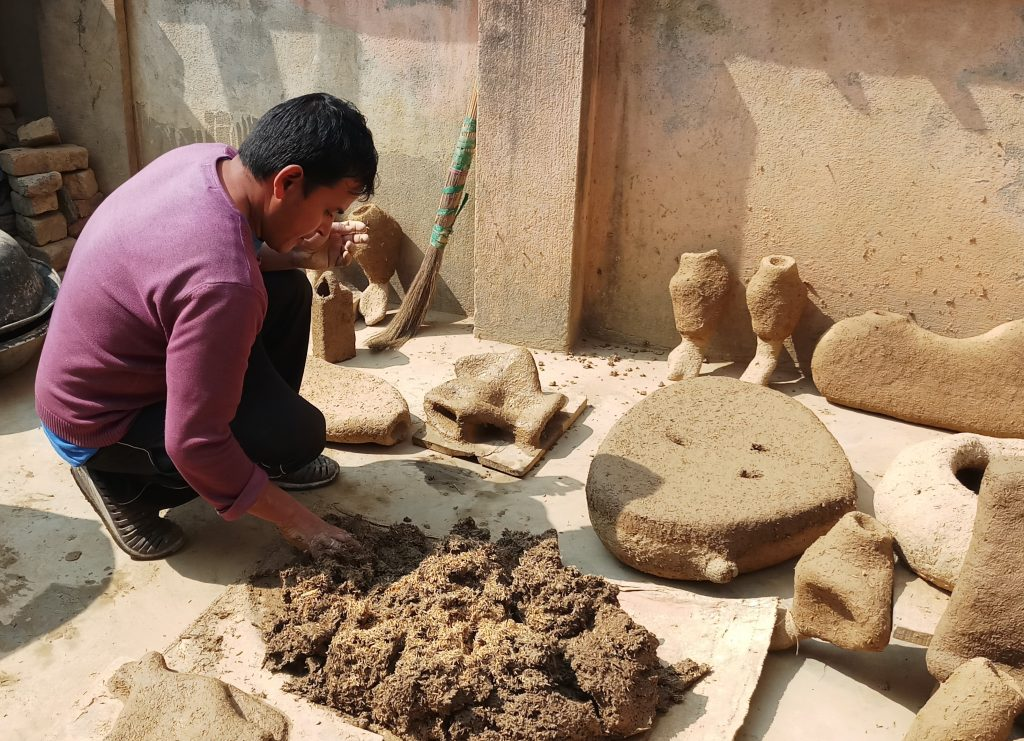 making of clay
