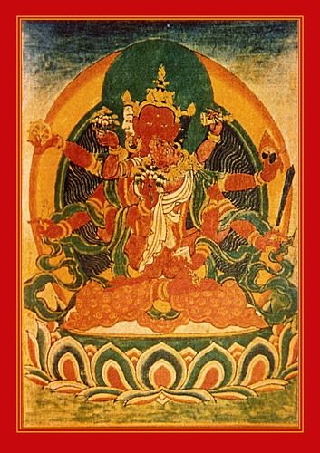 Consort of Amitabha is Pandaravasini