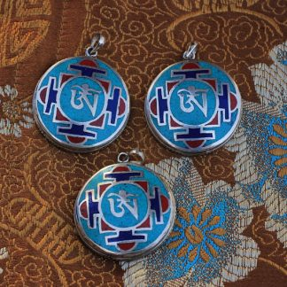 Tibetan om mandala charms