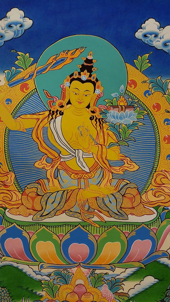 Manjushri Tibetan thangka paintings