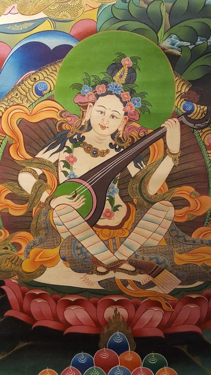 green tara thangka side deities 1