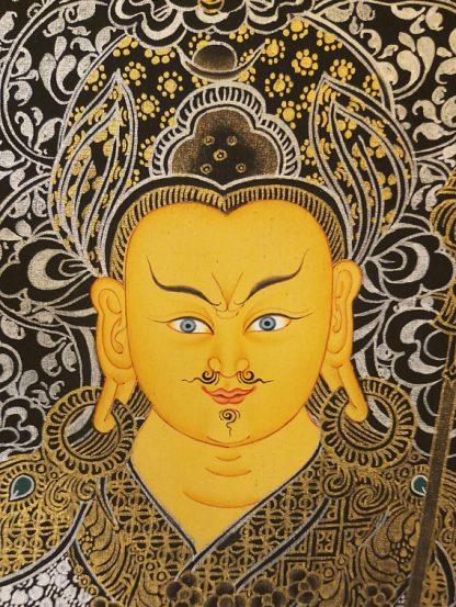 guru rinpoche thangka face