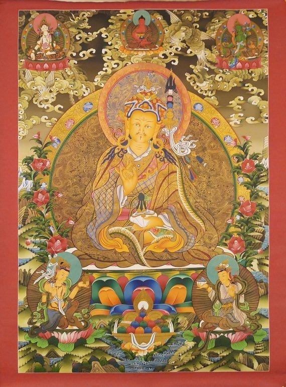 Padmasambhava Thangka Big Wall Art For Home And Monasteries