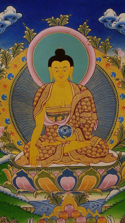 shakyamuni buddha thangka body