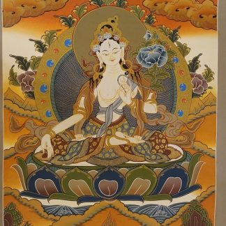 white tara thangka painting