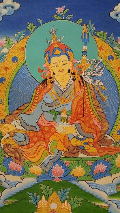 padmasambhava guru thangka painting