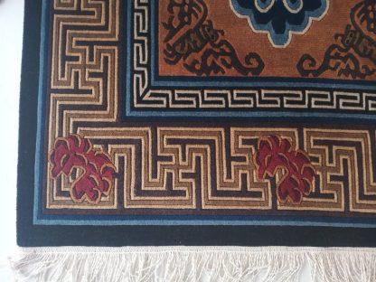 Tibetan Rug Bird corner
