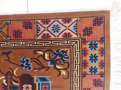 Tibetan rug mandala detail 2
