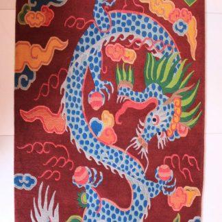 tibetan rug dragon carpet vertical