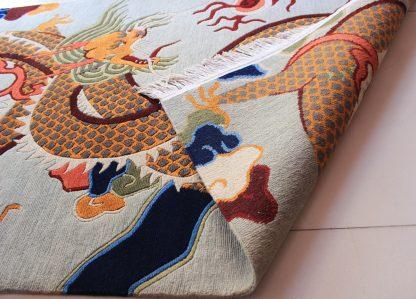 Tibetan Dragon Rug Backview