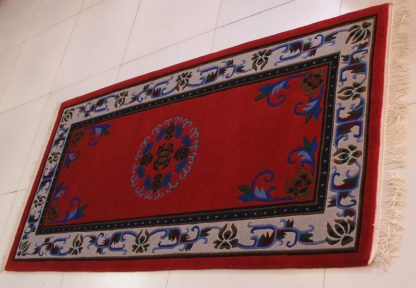 Tibetan Flower Mandala Carpet horizontal