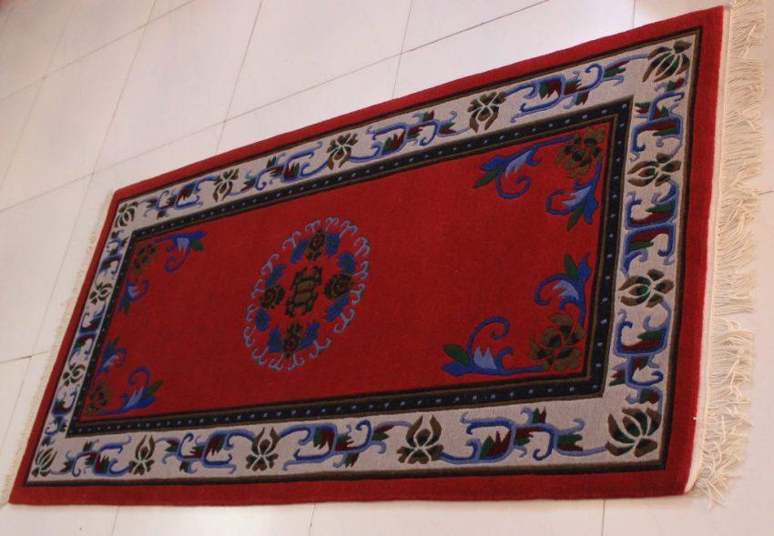 Tibetan Flower Mandala Carpet horizontal