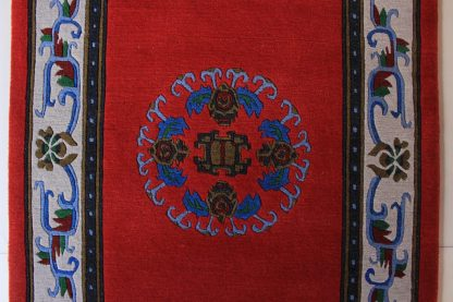Tibetan Flower Mandala Carpet red