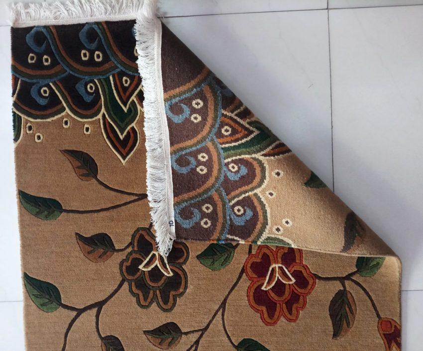 Tibetan carpet flower backview