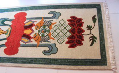 Tibetan rug Eight Auspicious symbol carpet