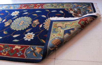 Tibetan rug flower blue3