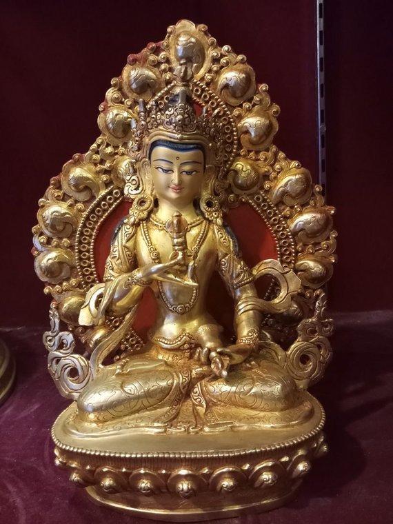 vajrasattva gold statue