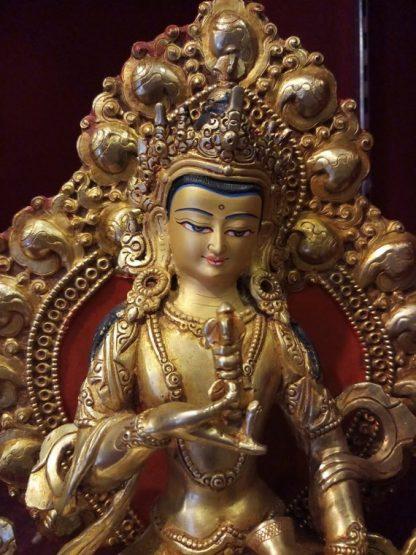 vajrasattva golden statue
