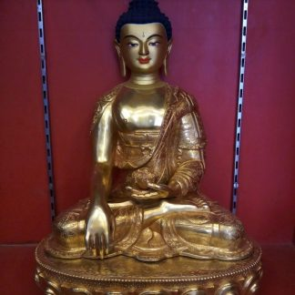 Shakyamuni Buddha Full gold figurine