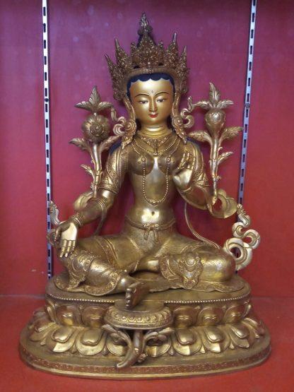 Green Tara Golden Statue