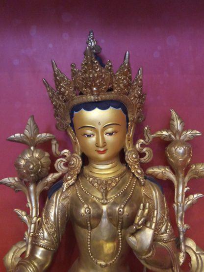 Green Tara Golden Statue gold plated body