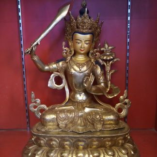 Manjushri Golden Statue side view 1