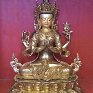 changresi buddha statue chenrezig 18 inches full gold statue