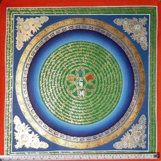Tibetan Home Decor Mandala Thangka for spiritual gift