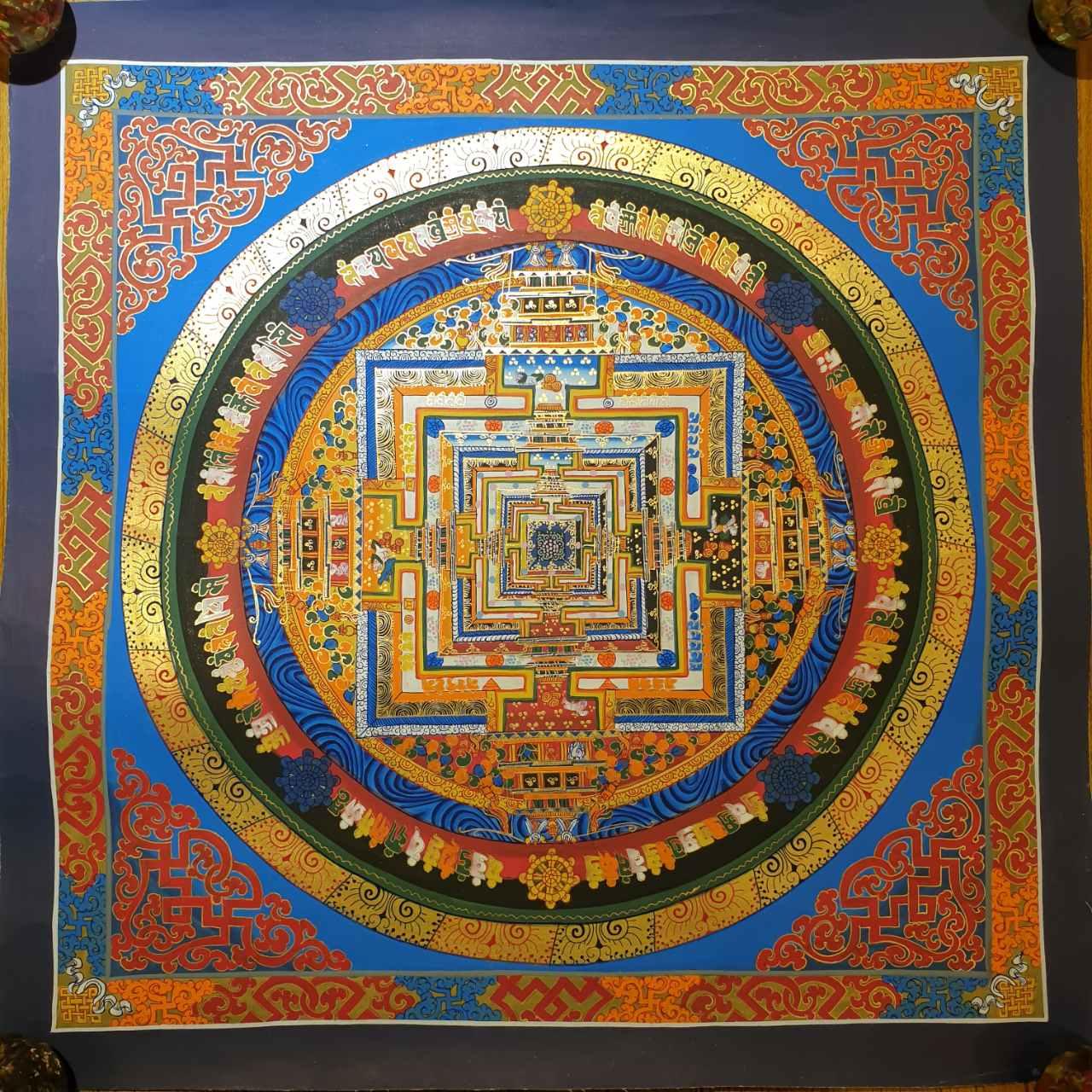 Kalachakra Mandala Thangka Painting Home Decor Wall Art