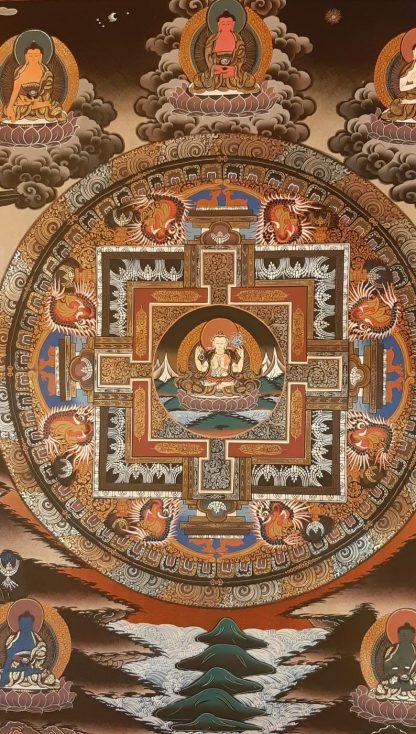 Chenrezig Mandala Wall Art Thangka Painting