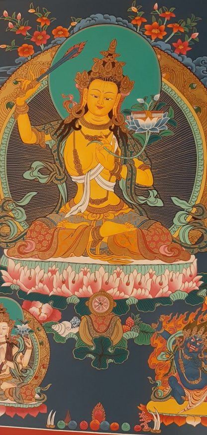 Manjushri art painting decor