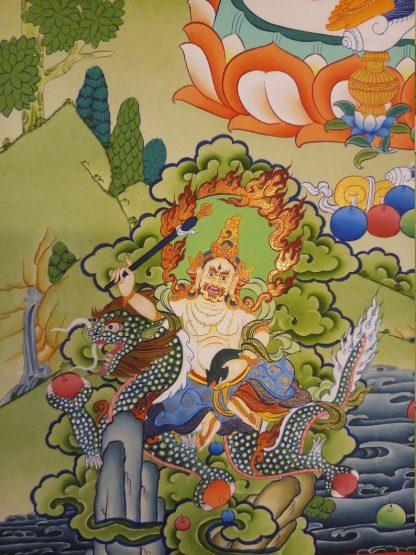 Yellow Dzambala Wall Hanging