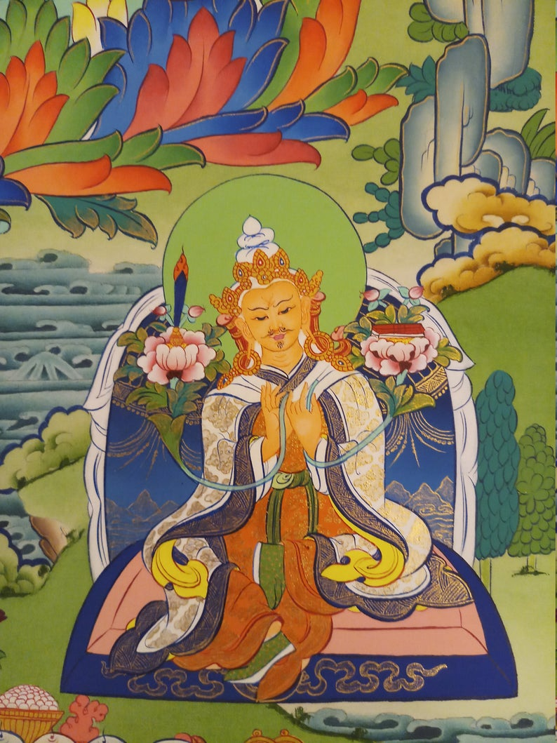 guru rinpoche art decor wall hanging
