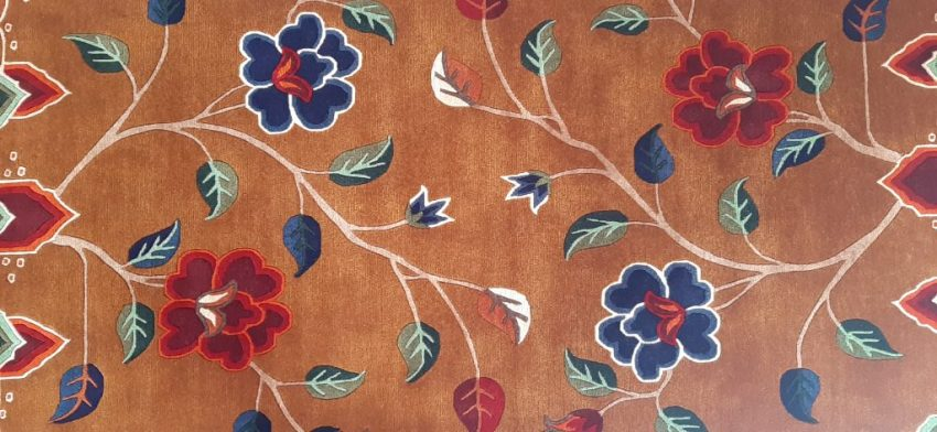 Tibetan Carpet Flower Rug spiritual gift