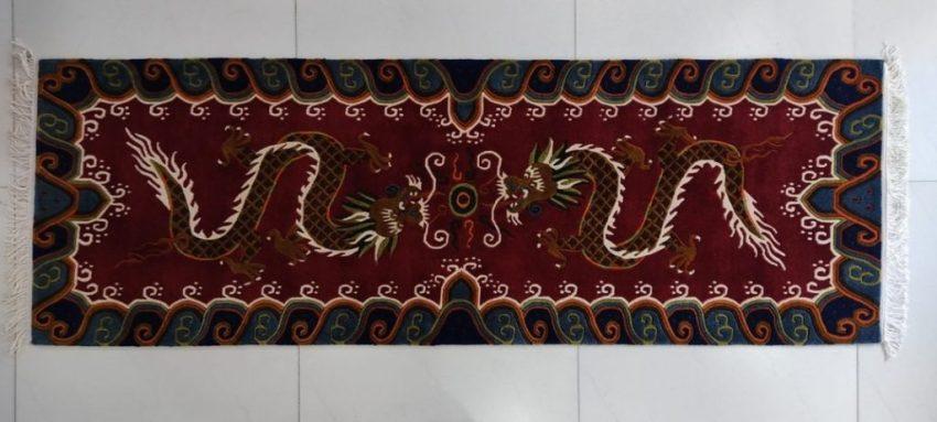 Tibetan Dragon Runner Mat Decor